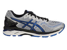 NEW MENS ASICS GEL-KAYANO 23 RUNNING SHOES TRAINERS SILVER / IMPERIAL 2E WIDE