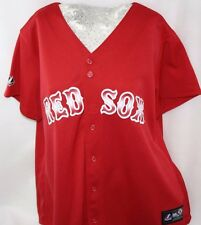 NEW Womens MAJESTIC Boston RED SOX Red MLB Stitched Baseball Jersey