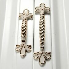 Fashion Chrome Flower Pattern Drawer Door Cabinet Cupboard Pull Handle Knobs