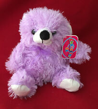 CHARACTER COMPANY LILAC PURPLE BEAR PLUSH SOFT TOY GIFT
