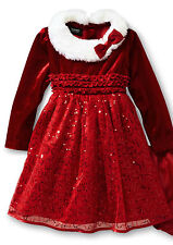 Holiday Editions Toddler Girl's Sequin Santa Dress Size 4T - 5T