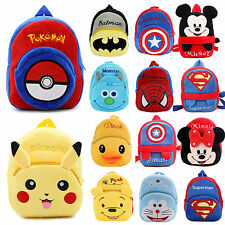 Kids Boys Girls Pokemon Cartoon School Bag Backpack Shoulder Rucksack Book Pack