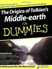 The Origins of Tolkiens Middle-earth for Dummies,PB,Greg Harvey - NEW