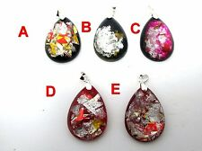 free shipping unique CHARM handmade resin sparkle pendant  NECKLACE choker