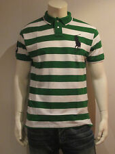POLO RALPH LAUREN MEN POLO SHIRT [SIZE S / M ] BIG PONY STRIPES GREEN NIP