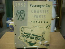 1949 1950 1951 1952 Ford Pass Car Chassis Parts Book Manual Catalog