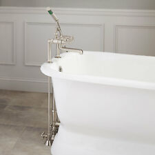 Whittington Deck Faucet Set with Cross Handles for Copper Pipe