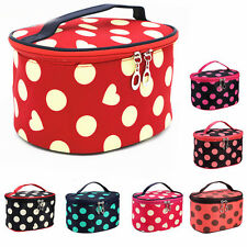 Lady Portable Hand Case Makeup Cosmetic Mirror Beauty Container Pouch Wash Bags
