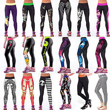 Women Colorful Galaxy Print Leggings Stretch Sexy Jeggings Pencil Pants Trousers