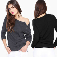 New Fashion Women Casual Tops New T-Shirt Loose Blouse Cotton Blouse Long Sleeve