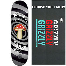 """FLIP Skateboard Deck PENNY 20TH ANNIVERSARY MUSHROOM 8.13"""" with GRIZZLY GRIPTAPE"""