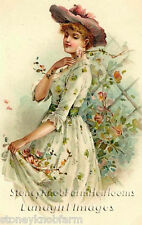 Gathering Roses ~ Victorian Ladies, Vintage ~ Cross Stitch Pattern