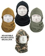 Polar Fleece BALACLAVA Cold Weather Face Mask Neck Warmer Ski Snowboarding ADJ.