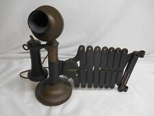 Antique American Tel&Tel Candlestick TELEPHONE Scissor Swing Arm 1900's Old Vtg
