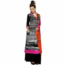 Bollywood Tie Dye Salwar Kameez with Palazzo Pants- Embroidered-Cocktail-1505
