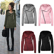 Womens Casual Jacket Hoodie Sweater Hooded Pullover Sweatshirt Jumper Coat Top