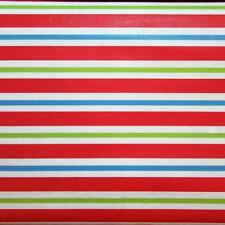 CHRISTMAS STRIPE VINYL TABLECLOTH~Vinyl~Flannel Back~52x70 Oblong~Red/Green~NEW