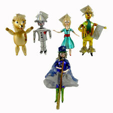 Laved Italian Ornaments MAGO DI OZ Glass Dorothy Lion Tinman Scarecrow SET004
