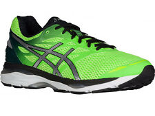 NEW MENS ASICS GEL-CUMULUS 18 RUNNING SHOES TRAINERS GREEN GECKO / SILVER / SAFE