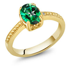 1.33 Ct 18K Yellow Gold Plated Silver Ring Made With Rainforest Swarovski Topaz