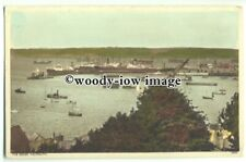 tp9324 - Cornwall - Ships Moored  around the Docks of Falmouth - postcard