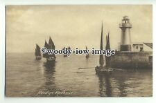 tp9330 - Cornwall - Artist Impression of Newlyn Harbour & Lighthouse - postcard