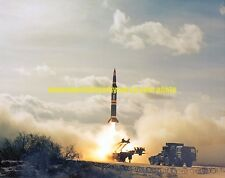 Pershing II Missile Color Photo Military Missle Army 1982  Rocket Aircraft Space