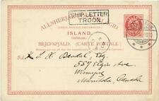 Iceland postal card-HG:8-REYKJAVIK 11/5/1900-SHIP LETTER TROON(scarcity C)to