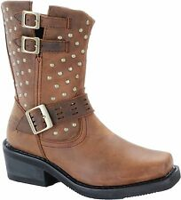 NEW HARLEY-DAVIDSON WOMENS RIDING BOOTS D83715 SHIRLEY