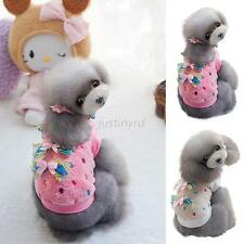 New Pet Dog Cat Warm Bow Apparel Puppy Sweater Pullover Soft Fleece Coat Clothes