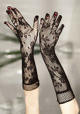 BD Women Long Lace Floral Gloves Wedding Party Gloves Fashion Elegant Mittens