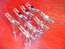set of 8 chrome steel deluxe hot rod valve cover wing bolts,SB chevy,rat rod 350