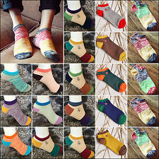 NT 1 Pair Ankle Crew Mens Cotton Sport Socks Low Cut Casual Color Sock Fashion