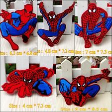 10pcs/set Cartoon Spiderman Embroidered Applique Iron Sew on Patches/Badges