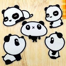 10pcs/set Cartoon Panda Embroidered Applique Iron Sew on Patches/Badges