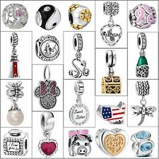 Genuine Hot Luxury 925 Sterling Silver Charms Diy For 3mm European Bead Bracelet