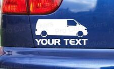 VW Transporter Van Custom Your Text Stickers Decals Volkswagen T3 T4 T5 T6 ref:1