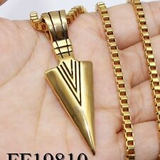 3mm Mens Silver Gold Stainless Steel PENDANT NECKLACE Box Link Chain 16-30inch