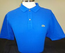 NEW MENS LACOSTE S/S SOLID PIQUE POLO SHIRT, LASER BLUE, L1212, SLIM FIT, XXL