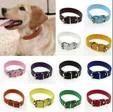 Adjustable Pet Dog PU Leather Collar Puppy Dog Cat Buckle Neck Strap Buckle S-M