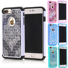 Hybrid Crystal Bling Diamond  Armor Hard Case Cover Skin For Samsung Galaxy S7