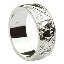 New Silver Irish Celtic Claddagh Galway 6mm Wedding Band Ring Celtic Jewellery
