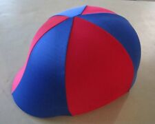 Horse Helmet Cover ALL AUSTRALIAN MADE Royal blue & Red Any size you need