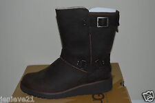 NEW UGG Australia Boots Shoes $200 MADDOX CHESTNUT Leather Lightweight 9 Brown