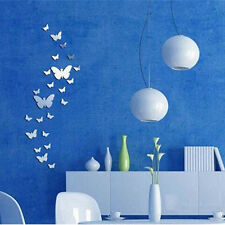 3D Mirror Butterfly Vinyl Removable Wall Sticker Decal Home Decor Art DIY