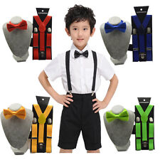 Suspender and Bow Tie Matching Colors Baby Toddler Kids Boys Girls Child