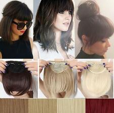 Sales Synthetic Hair Fringe Bang Hairpiece Clip-In Front Hair Extension Straight