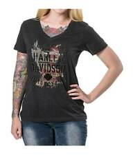 Harley-Davidson Women's Join Now Foiled Graphic Short Sleeve Tee, Black