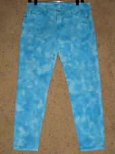 NEW 7 for all Mankind Seven Cropped Second Skin Legging Jeans Blue $189 Handmade