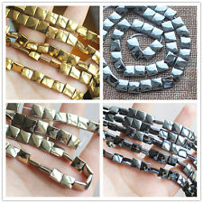 3x8mm Natural Hematite Square Loose Beads 15inch 48pcs